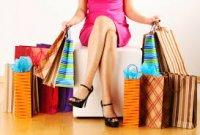 kobieta, zakupy, ubrania