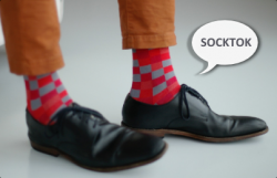kolorowe skarpetki garniturowe socktok